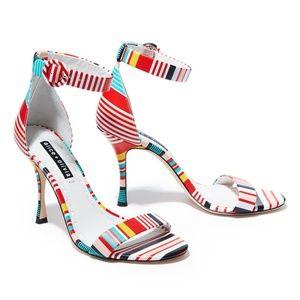 alice + olivia Danelle sandal (multi-stripe)